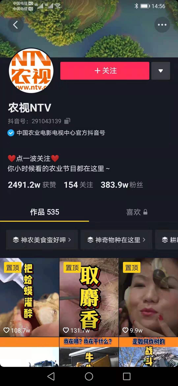 农视NTV抖音代运营